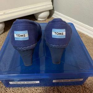 Blue toms wedges